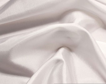 2 meters fabric polyester taffetta white lining brilliant soft