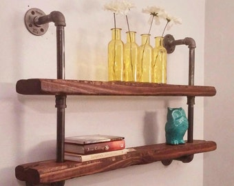 Farmhouse Pipe Shelf