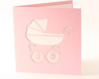 New Baby Card - Laser Cut Card - Greeting Card - Birthday Card - Laser Cut - Invitation - Laser Cut Invitation - Baby Girl - Baby Boy - Baby