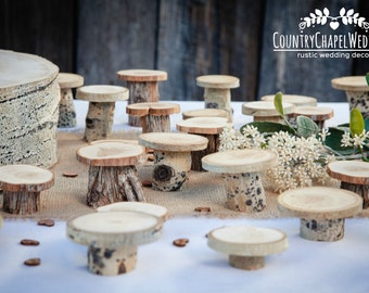 15 Rustic Cupcake Stands ~ Individual Cupcake Stands ~ Spring Wedding