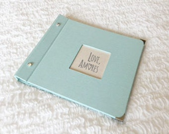 His and Hers Wedding Memory Book - Mint