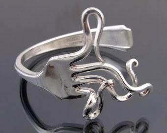 Vintage Silver Plated Fork  Bracelet Bangle Handmade jewellery