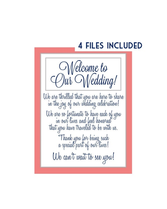 Similar to wedding welcome letter welcome note thank you letter
