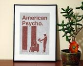 American Psycho Minimalist Movie Poster. Modern Art Print.