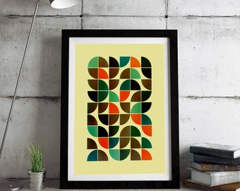 Framed print - Mid Century Modern, Abstract art, Minimalist art, Printable art, Geometric art, Scandinavian art, Modernist art