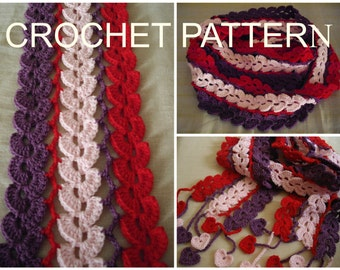 CROCHET PATTERΝ: Valentine's Day and Every Other Day Scarf - 120 photos.