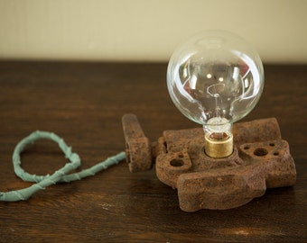 Vintage Mining Side Lamp