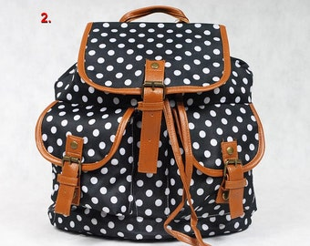 backpack beautiful, roomy, dots