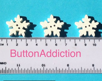 Large Snowflake Button, pack of 20