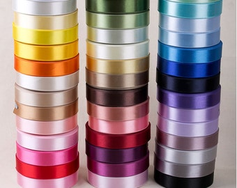 "High-density Single side satin Ribbon 44Colors. per 50yards <1/8""(5mm), 3/8""(10mm), 5/8""(15mm), 1""(25mm), 1.6""(40mm)> made in korea"