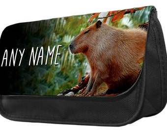 Personalized Capybara Pencil Case - Make Up Bag - Game Console Boys Girls Gift Birthday Christmas