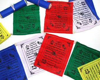 String of 10 Tibetan prayer flags
