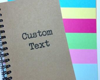 Custom Journal, Custom Notebook, Personalized Gift, Notebook, Custom Quote, Custom, Kraft Notebook, Journal, Writers gift, Sketchbook, gift