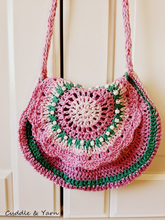 Crochet Bag Strap : , Crochet Handbag, Shoulder Strap Purse, Boho Shoulder Cotton Purse ...