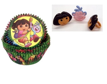 Dora Rings with Dora Baking Cups