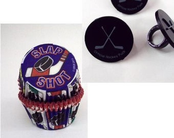 Hockey Rings with Hockey Baking Cups