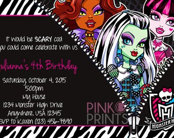 Handmade monster high birthday Etsy