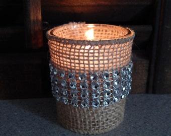 Rustic Wedding Favors - Rustic Wedding Decor - Country Wedding - Barn Wedding - Rustic Candles - Set of 10