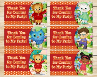 Printable Daniel Tiger Birthday Goody Bag Tags Orange // Daniel Tiger Birthday // Daniel Tiger Party // Daniel Tiger Party Favors