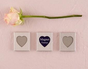 Wedding Favors - Mini Magnet Heart Photo Frames - Bridal Shower Favor - Party Favors - Mini Magnet Photo Frame Favors - Bridal Party Favors