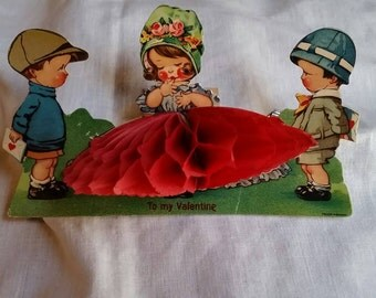 FREE SHIPPING- Vintage Pop Out Valentine