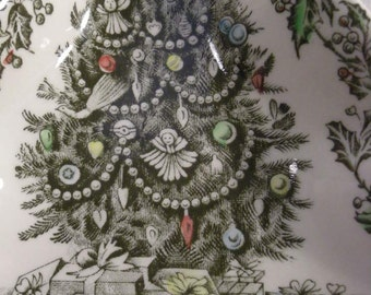 JOHNSON BROS. CHRISTMAS tree shaped side dish