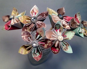 Origami Folded Paper Flowers for any Occasion