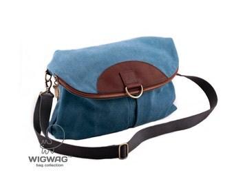 SALE 20% OFF Women's canvas bag, women's backpack, leather canvas bag, convertible messenger, crossbody bag, shoulder bag, convertible bag