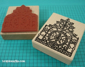 Lace Pattern 1 Stamp / Invoke Arts Collage Rubber Stamps