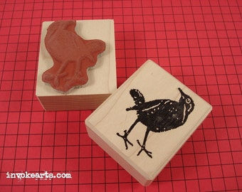Blackbird Stamp / Invoke Arts Collage Rubber Stamps