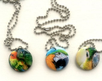 Necklace pendants with original artwork- choose from 3 designs