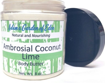 Ambrosial Coconut Lime Body Butter 8oz