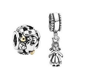 Sterling Silver New Family Forever With Girl Charm