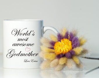 Personalized Godmother mug-Godparent gift-Godmother gift-Christening gifts-Baptism gift-Present for godparents-Personalized Christening gift