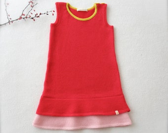 SALE 50% OFF Knitted dress, baby toddler, red dress, kids dress, children dress, toddler dress, red tunic, warm dress, winter christmas red