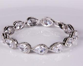 Crystal bracelet, Bridal bracelet, Rhinestone Bracelet, Swarovski Bracelet, Wedding bracelet, Bridal accessories, Prom, Crystal Bracelet b11