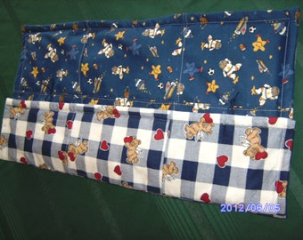 reversible quilt cover in flannel.