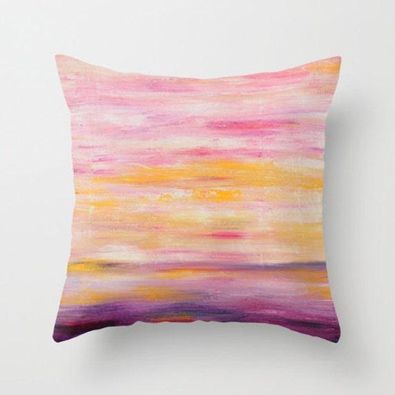 Purple And Pink Decorative Pillows : Items similar to Pink Decorative Pillows, Pink Pillow Covers, Purple Pillow, Yellow Pillow, Art ...
