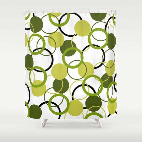 Unique Shower Curtain Yellow Olive Green By Designbyjuliabars