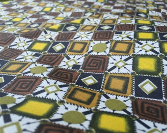 German Vintage Fabric 60s fabric original 50cm x 80 cm