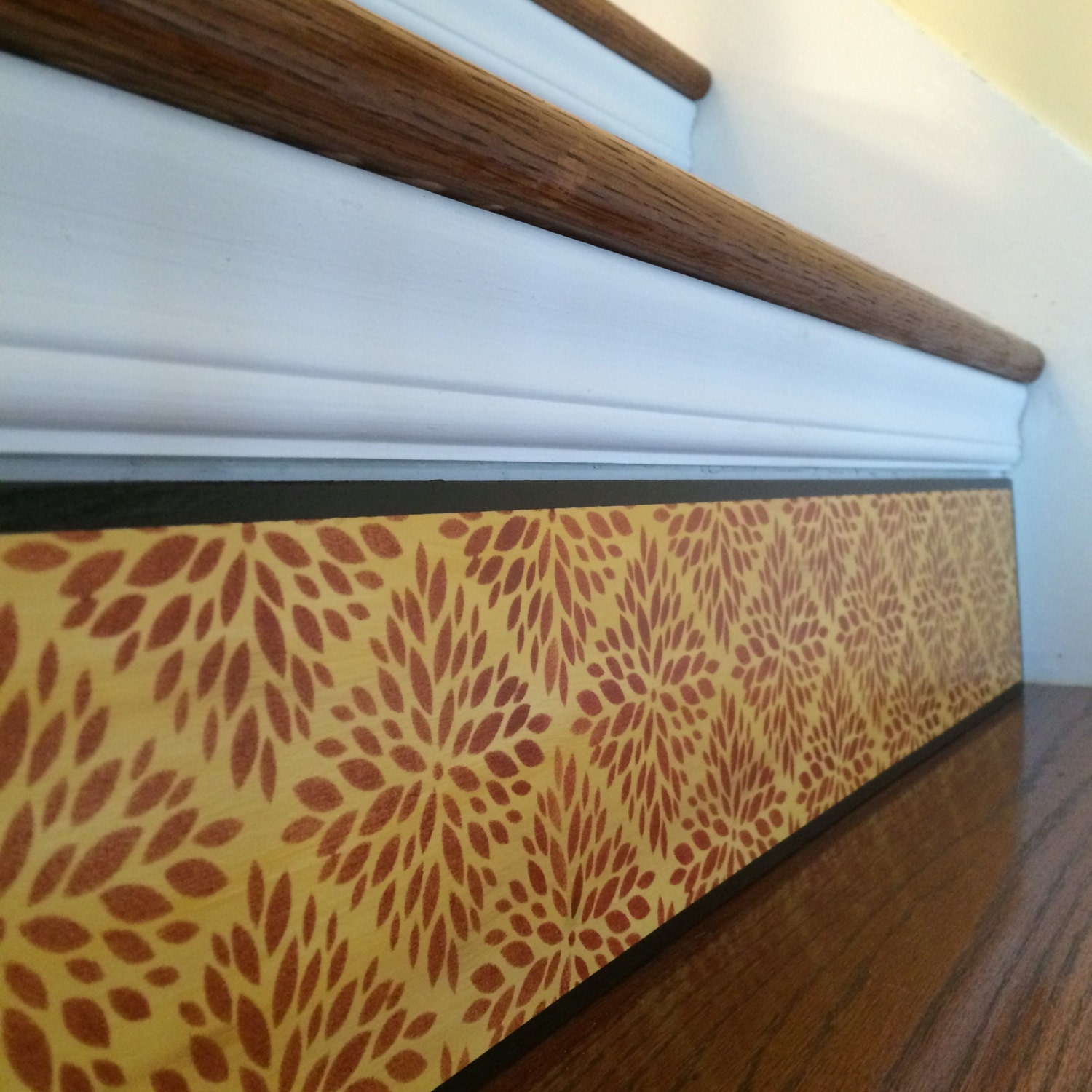 Carved Wood Stair Risers Stair Ideas Stamped Leather: Geometric Floral / Moroccan Decor / Moroccan Lattice / Modern