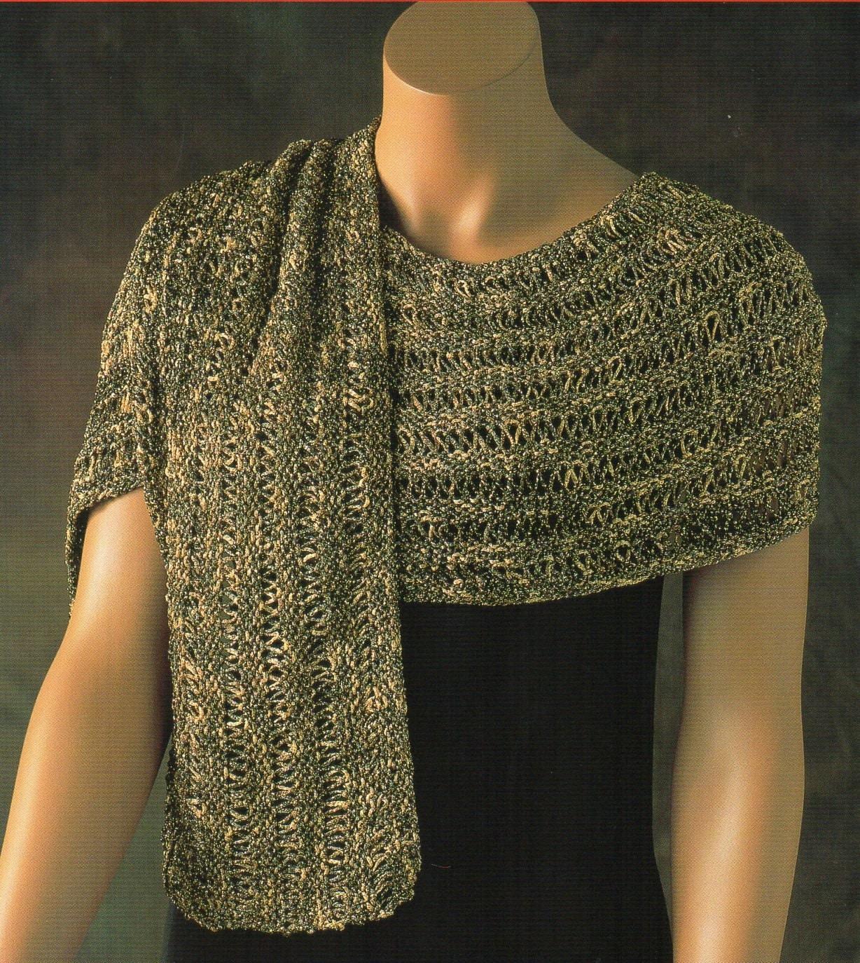 Evening Wrap Shawl Knitting Pattern Womens Shawl Wrap Scarf