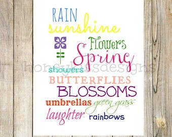 Spring Printable, Printable, Spring Digital Printable, Spring chalkboard printable, Spring chalk art, Spring Art, spring printables