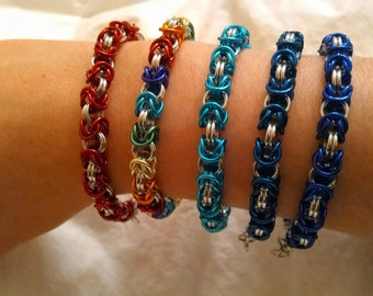 Colored Byzantine Bracelet