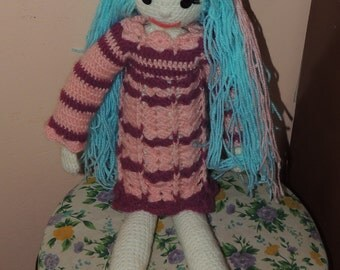 Handmade amigurumi doll about 50 cm tall