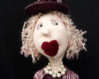"""Cloth Art Doll """"Sybil"""" OOAK"""