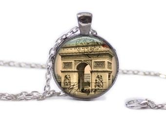 Paris Necklace Paris Jewlery Travel Necklace Wearable Art Pendant