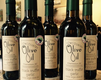Black Truffle Garlic Infused Olive Oil