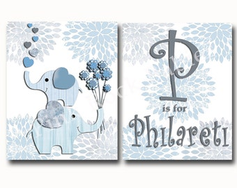 Nursery custom name wall art, kids room decor, kids wall art, baby boy nursery, wall art for kids, wall art for nursery, children wall art