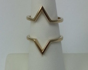 Gold Vermeil Double Chevron Ring